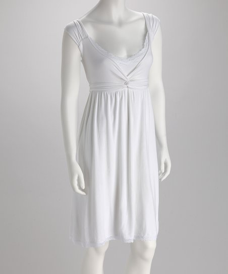 White Twist Organic Nightgown