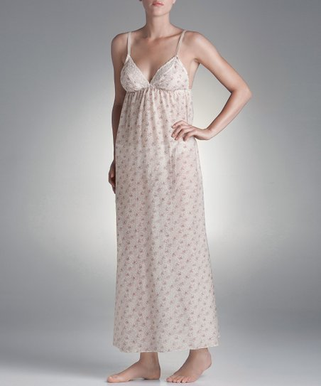 Blush Lingerie Cream Floral Love Always Nightgown - Women
