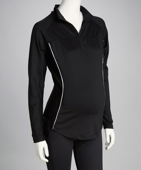 Black Cameron Maternity Pullover - Women