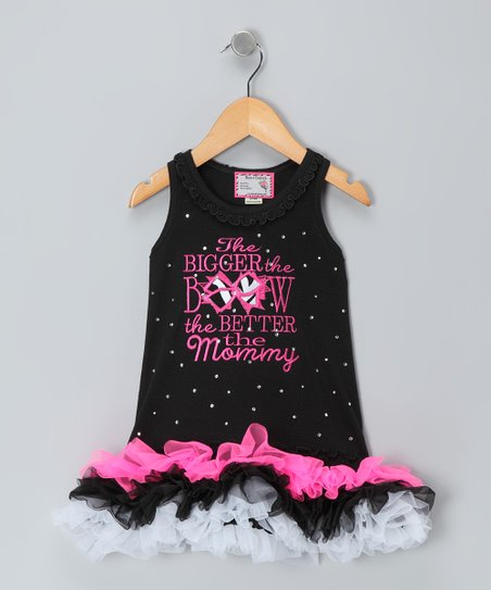 Black 'Bigger the Bow' Dress - Infant, Toddler & Girls