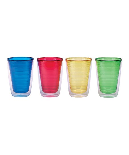 Primary Colors 16-Oz. Insulated Tumbler Set