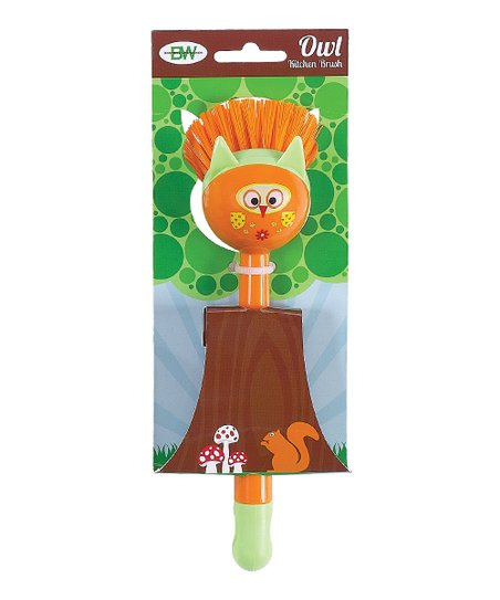 Orange Owl Kitchen Brush