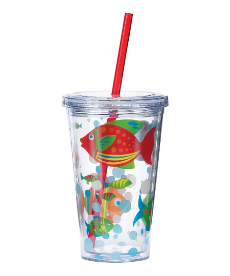 Go Fish 16-Oz. Insulated Lidded Tumbler