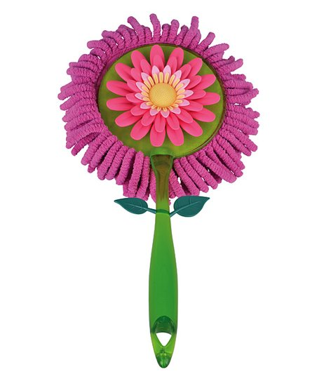 Pink Flower Garden Microfiber Duster