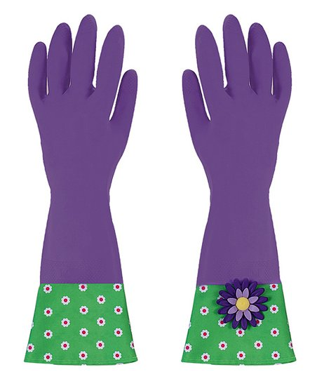 Plum Flower Garden Glamour Gloves