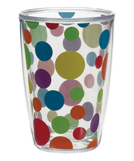 Primary Polka Dot 16-Oz. Tumbler – Set of Four