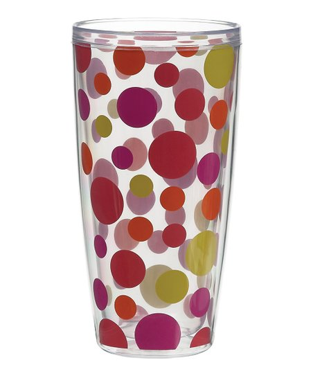 Hot Polka Dot 24-Oz. Tumbler – Set of Four