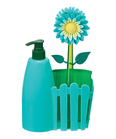 Blue Flower Garden Countertop Caddy Set