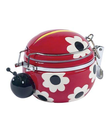 Ladybug Garden Hinged Jar