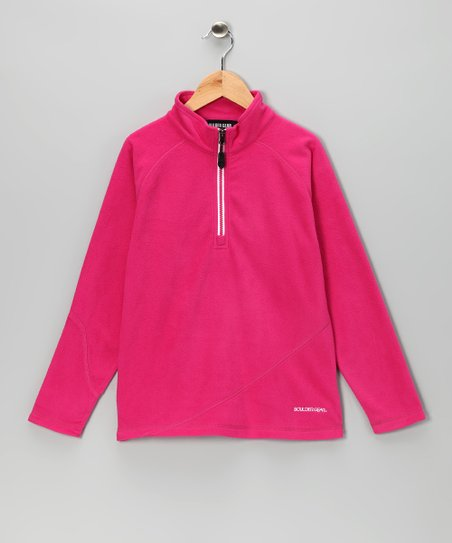 Pink Rose Ruby Micro Pullover - Girls
