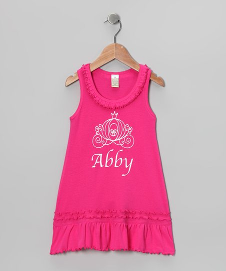 Pink Carriage Personalized Dress - Infant, Toddler & Girls