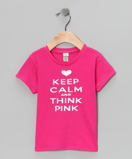 Hot Pink 'Keep Calm' Tee - Infant, Toddler & Girls