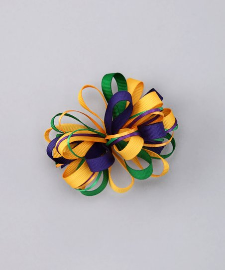 Purple & Green Loopy Clip