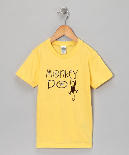 Yellow 'Monkey Do' Tee - Infant, Toddler & Kids