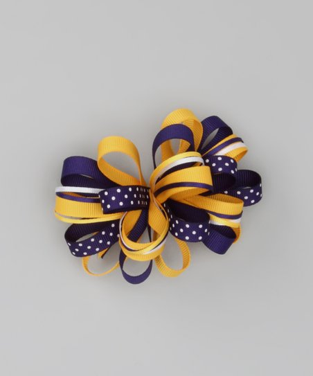Purple & Yellow Loopy Clip