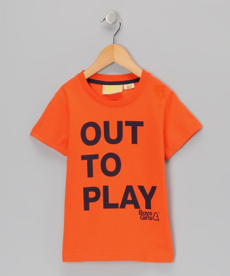 Orange 'Out To Play' Organic Tee - Infant, Toddler & Kids