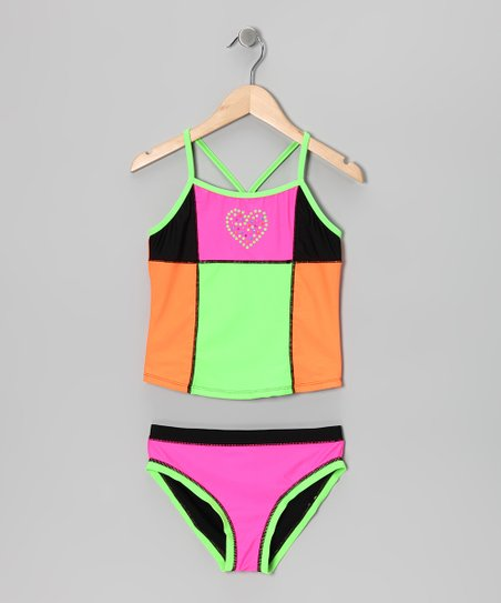 Neon Color Jam Tankini