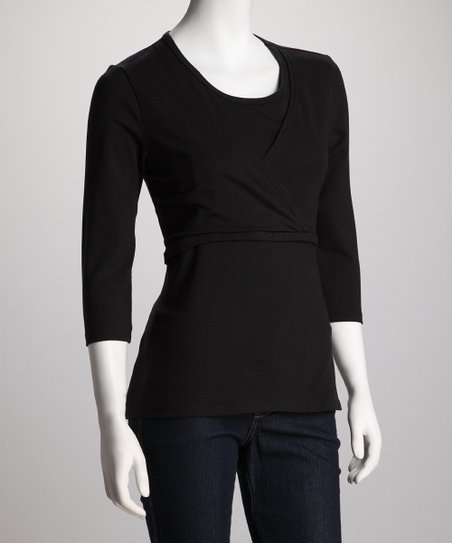 Black Mama Chic Nursing Top - Plus