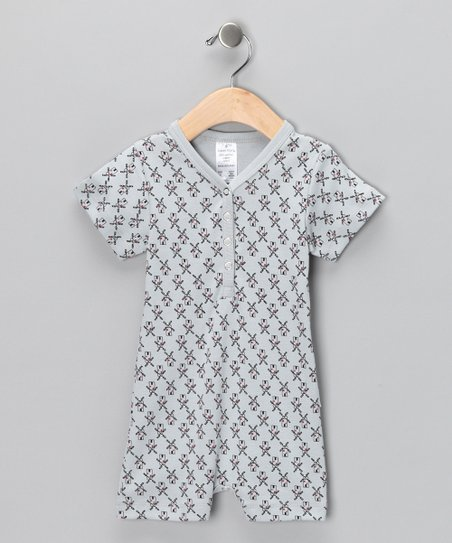Gray Windmill Organic Romper - Infant