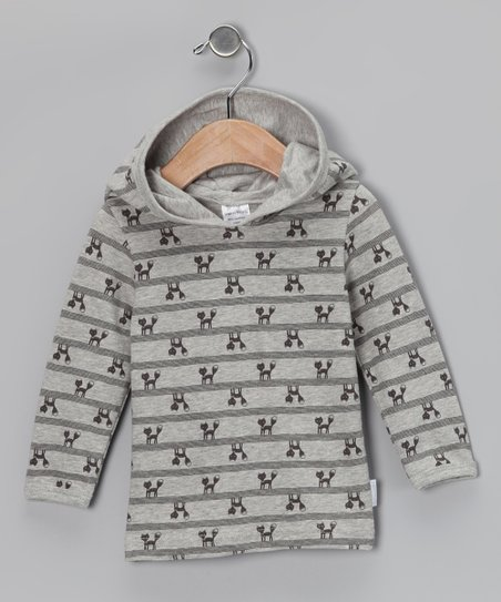 Gray Foxy Organic Hoodie - Infant & Toddler