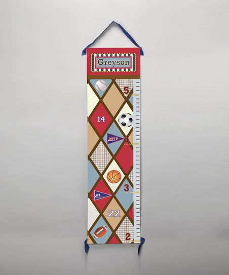 Red Diamond Sport Personalized Growth Chart