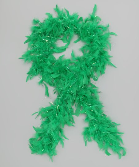 Bubblegum Diva Green Feather Boa