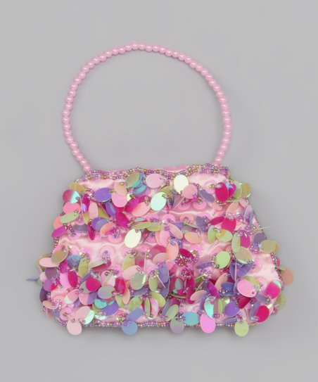 Pink & Purple Fancy Paillette Purse