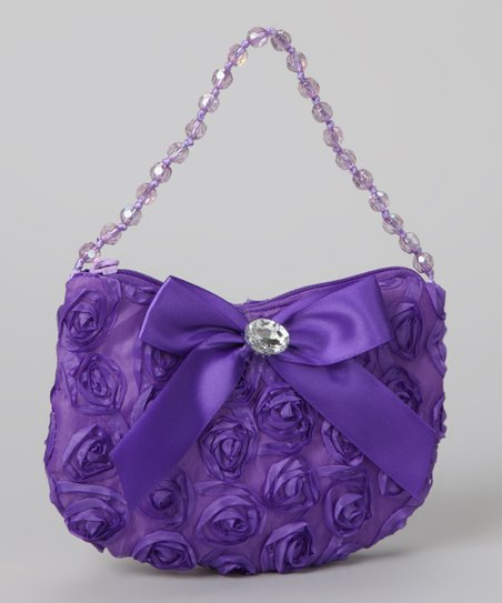 Purple Rosette Purse
