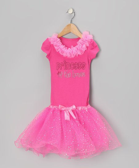 Hot Pink 'Princess' Tutu Dress - Toddler & Girls