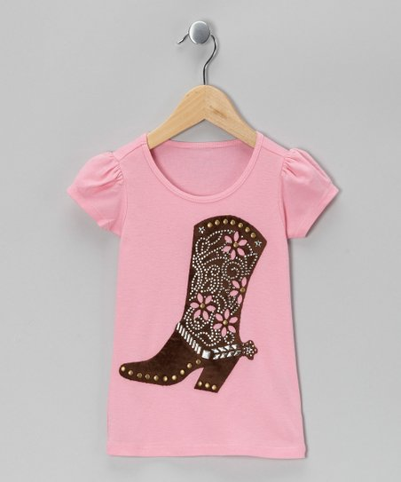 Pink Cowgirl Boots Tee - Toddler & Girls
