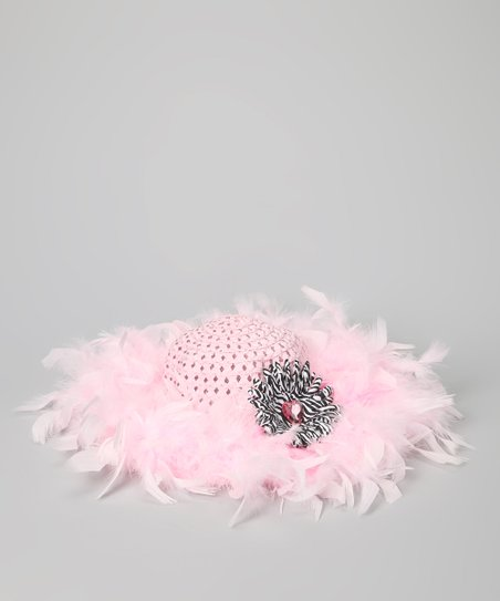 Pink Marabou Princess Tea Party Hat