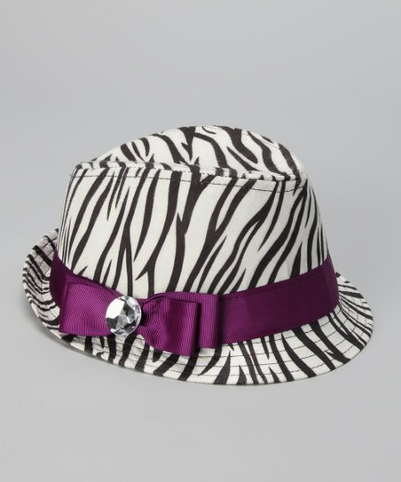 Purple Zebra Fedora