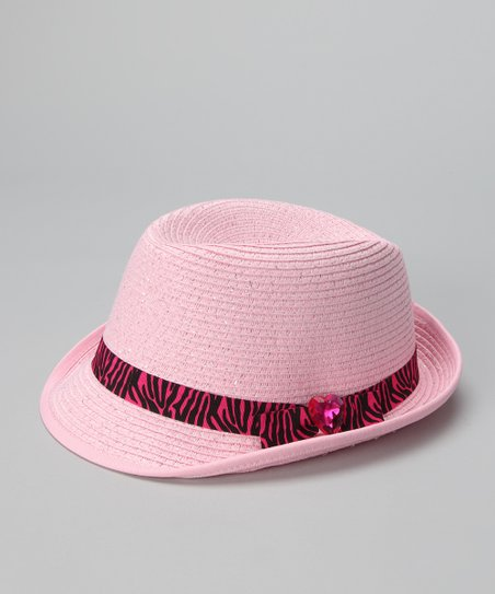 Light Pink Zebra Fedora