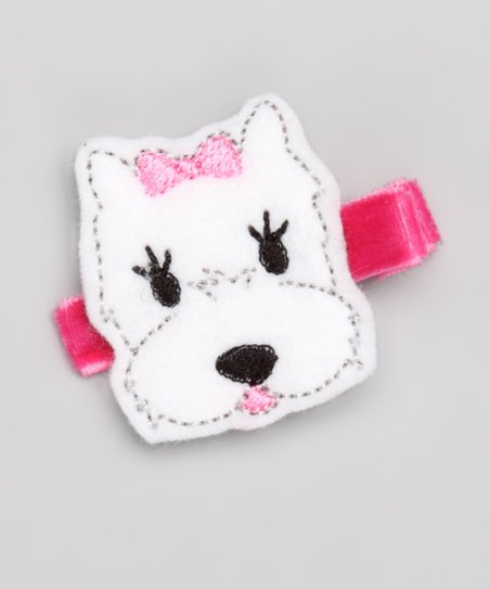 White Scottie Puppy Clip