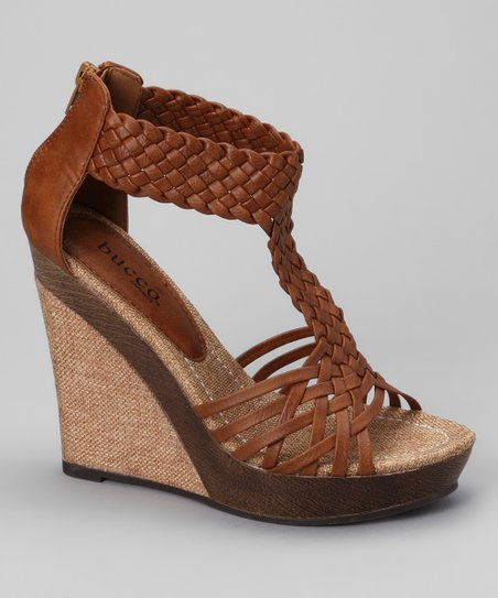 Tan Alamea Wedge Sandal