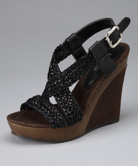 Black Ariel Wedge