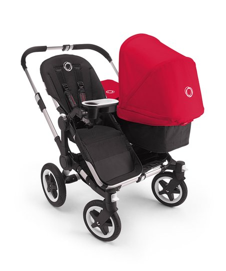 Coral Red Donkey Duo Stroller