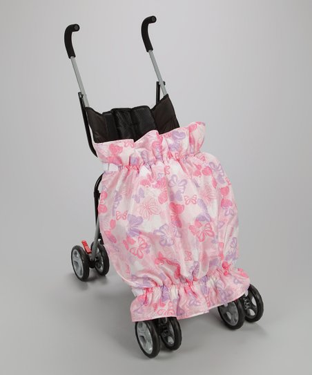 Pink & Purple Butterfly Stroller Blanket