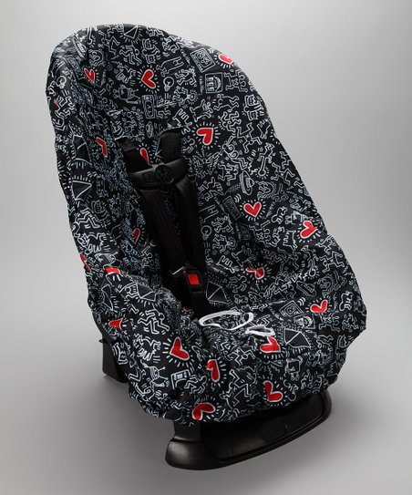 Keith Haring Graffiti Heart Car Seat Cover