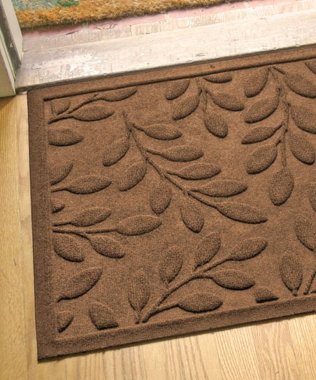 Dark Brown Birttney Leaf Aqua Shield Doormat