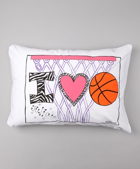 I Love Basketball Personalized Standard Pillowcase