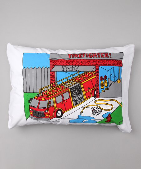 Fire Truck Personalized Standard Pillowcase