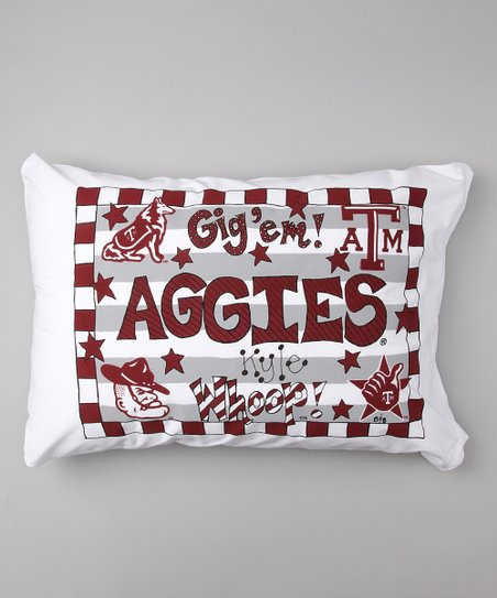 Texas A&M Aggies Personalized Standard Pillowcase