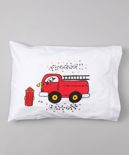 Fire Truck Personalized Toddler Pillow