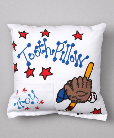 Baseball Personalized Tooth Pillow