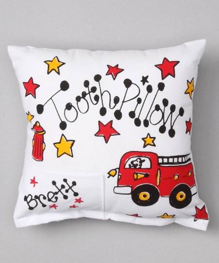 Fire Truck Personalized Tooth Pillow
