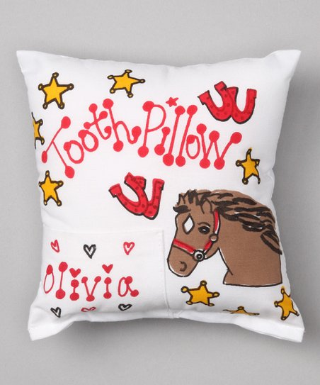 Red Horse Personalized Tooth Pillow