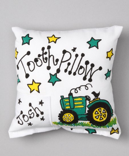 Tractor Personalized Tooth Pillow