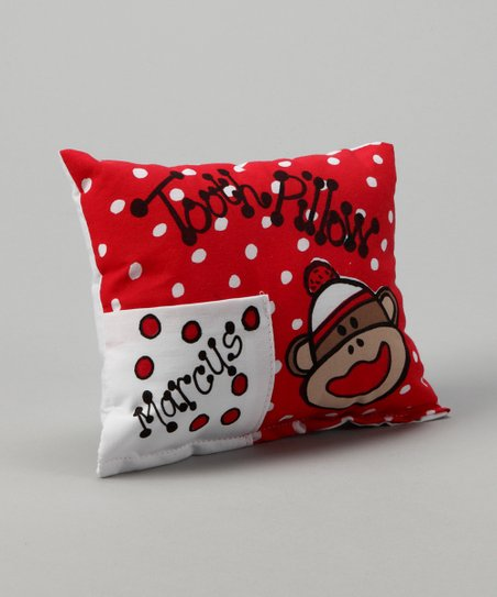 Sock Monkey Personalized Tooth Pillow