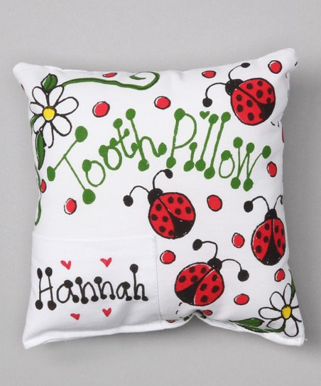 Ladybug Personalized Tooth Pillow